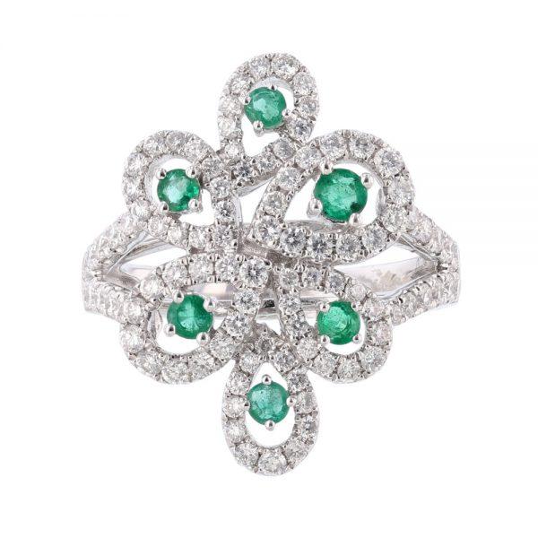 nazar's emerald and diamond ring