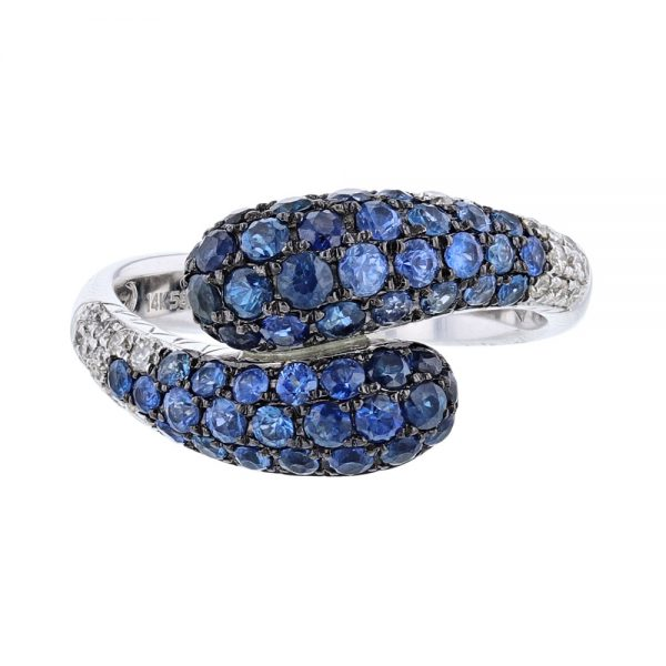 nazar's sapphire and diamond cocktail ring