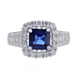 Nazar's Sapphire and diamond GIA ring