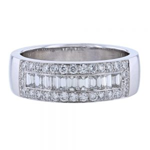 Nazar's Men's Baguette and Round Band Channel Set Pave