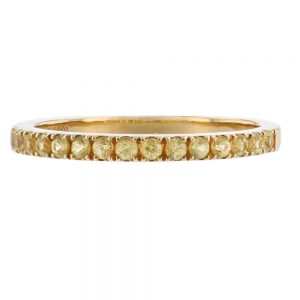 Nazar's Yellow Sapphire pave band Wedding band stackable