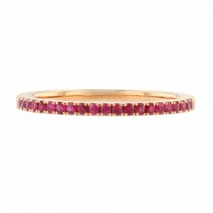 Nazar's Ruby Stackable Ring wedding band