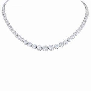 Nazar's 18k white gold tennis necklace