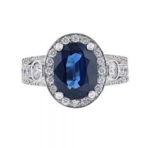 Nazar's Sapphire and Diamond Ring