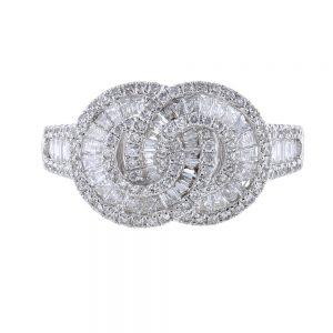 Nazar's 18K White Gold and Diamond Ring