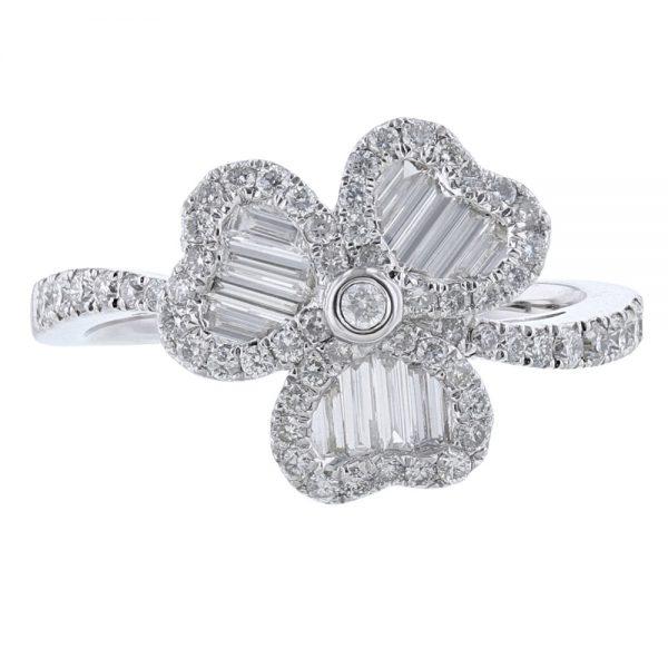 Nazar's 18K White Gold Diamond Ring