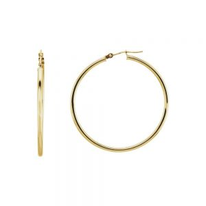 Nazar's 14k yellow gold polished hoops