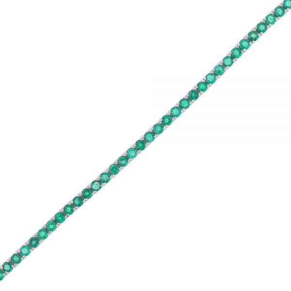 Nazar's Tennis Bracelet emerald 14k white gold
