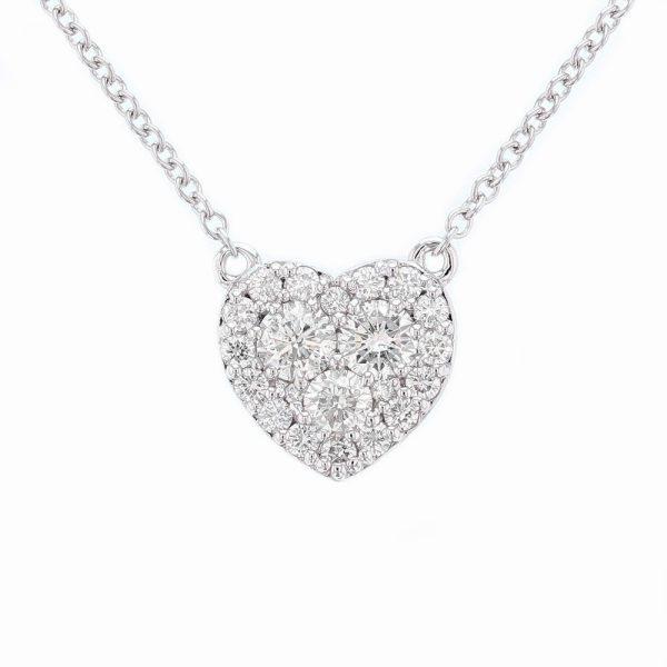 Nazar's Heart Diamond Pendant 14k White Gold