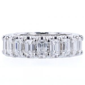 Nazar's emerald cut diamond eternity band