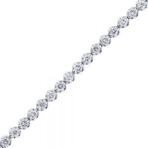 nazar's 2ct diamond tennis bracelet 18k white gold