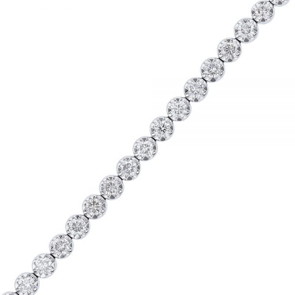 Nazar's 3ct diamond tennis bracelet 18k white gold