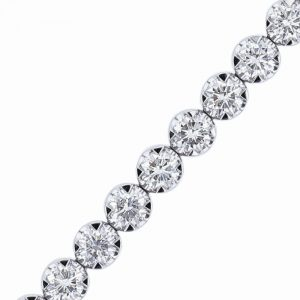 Nazar's 7ct 18k white gold diamond tennis bracelet