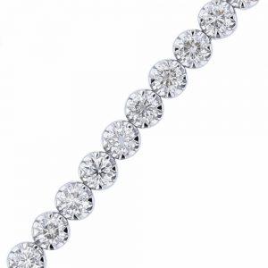 Nazar's 5ct 18k white gold diamond tennis bracelet