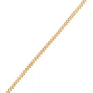 Nazar's 14k yellow gold diamond tennis bracelet
