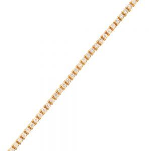 Nazar's 14K yellow gold diamond 3ct tennis bracelet