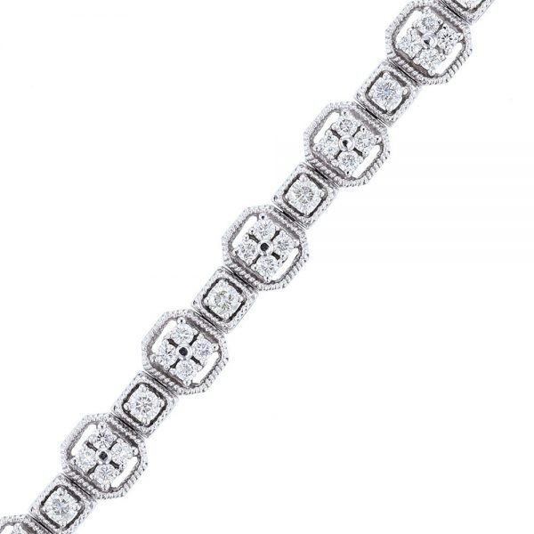 Nazar's 14k white gold diamond tennis bracelet