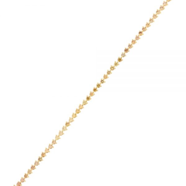 Nazar's Fancy Yellow diamond tennis bracelet 18k yellow gold