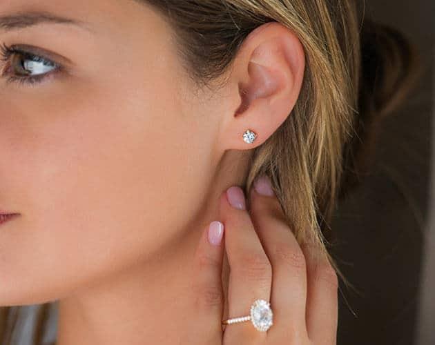 Diamond Stud Earrings In Houston
