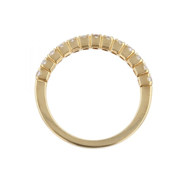 18K Yellow Gold 13 Diamond Band