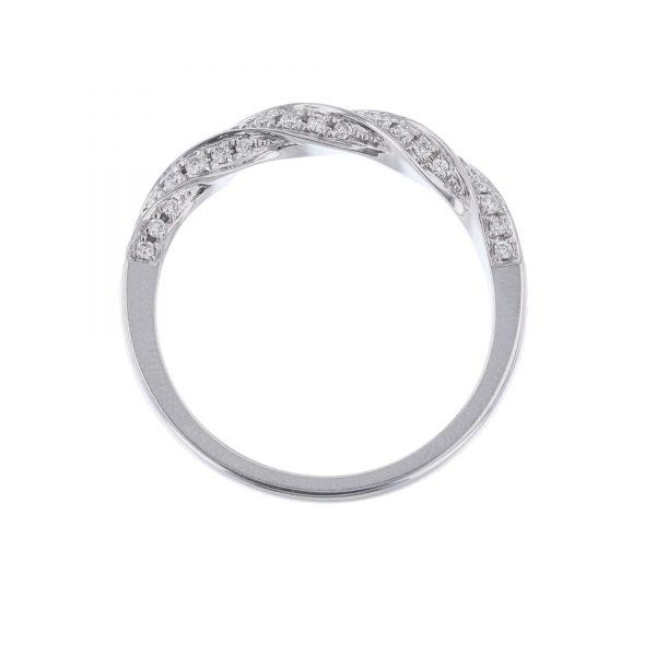18K White Gold 53 Diamond Ring