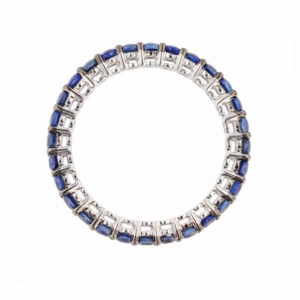 18K White Gold Blue Sapphire Eternity Band