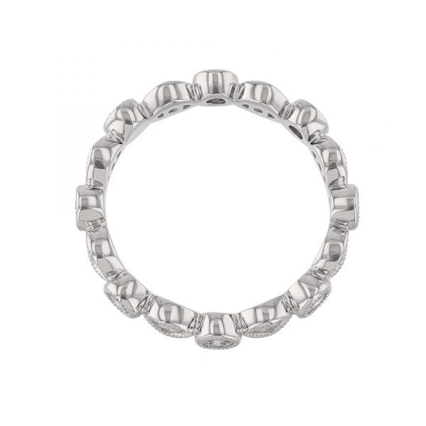 18K White Gold 16 Diamond Eternity Band
