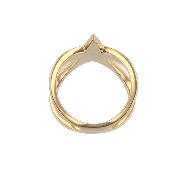 18K Yellow Gold Star Diamond Ring