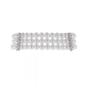 Nazar's and co pearl bracelet 18k white gold fresh water pearls