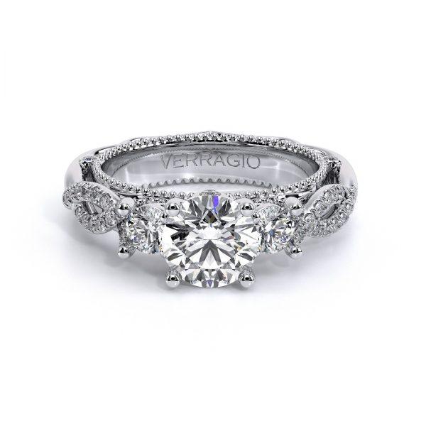 Verragio18K White Gold Venetian Twisted Diamond Ring