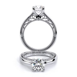 Venetian Lace Beaded Accent Engagement Ring AFN-5047R-1
