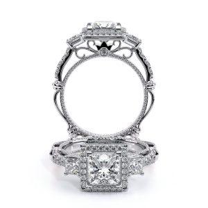 Parisian Pave' Princess Halo Diamond Ring