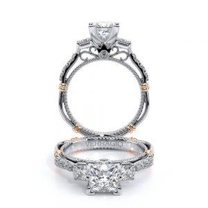 Verragio Parisian-124P Princess Cut Three-Stone Diamond Ring