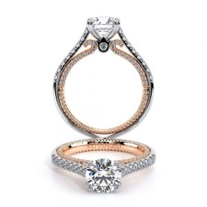 Verragio Couture-0452R Pave Cathedral Round Diamond Engagement Ring