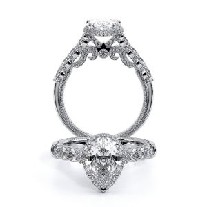 Verragio Insignia-7100PS 18K White Gold Pear Engagement Ring