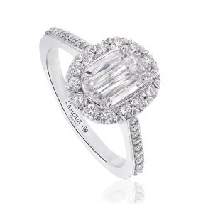Christopher Designs Oval Halo Pave Diamond Engagement Ring L227-050