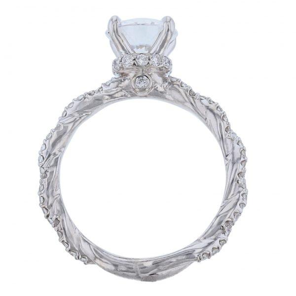 14K White Gold Twisted Diamond Ring