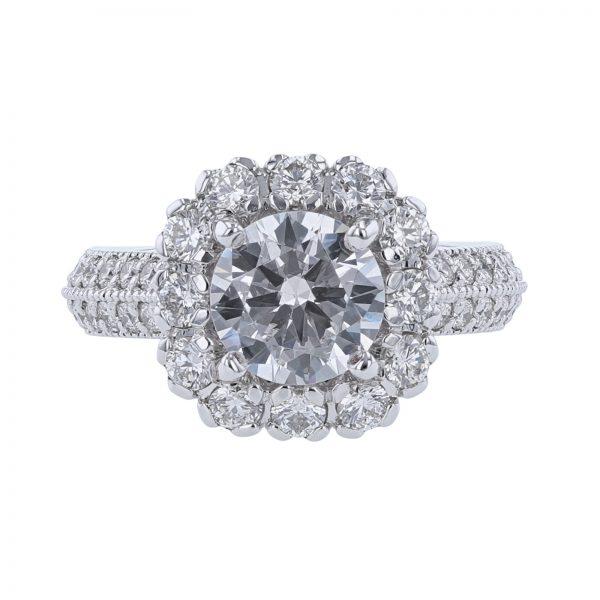 Nazarelle 14K White & Rose Gold 54 Diamond Ring