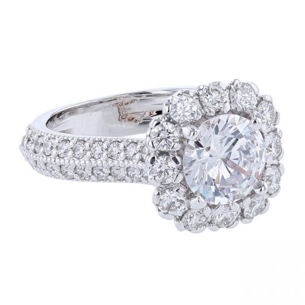14K White & Rose Gold 54 Diamond Ring