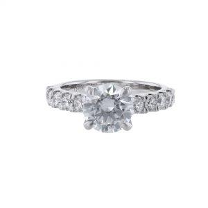 18K White Gold Ten Diamond Engagement Ring