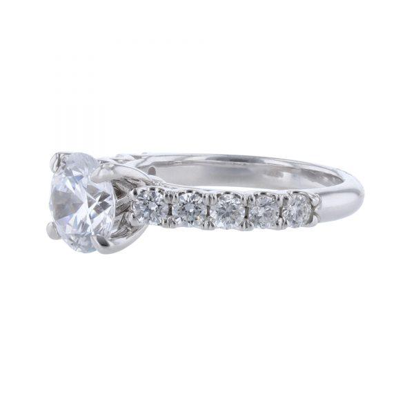18K White Gold 10 Diamond Ring