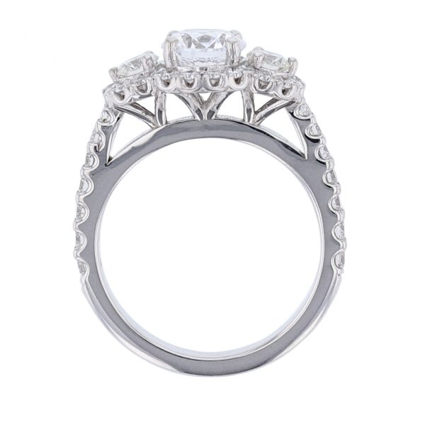 18K White Gold Two Diamond Engagement Ring