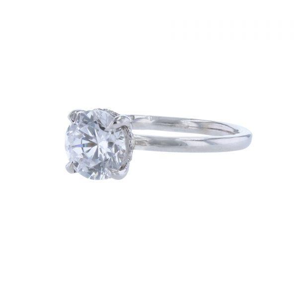 14K White Gold 12 Diamond Engagement Ring