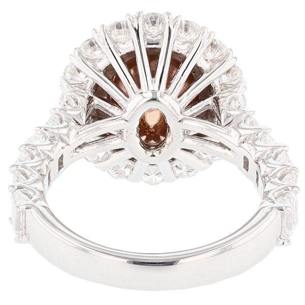 14K Gold Ceylon Padparadscha Sapphire Ring