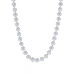Cultured Pearl Necklace in 14k White Gold