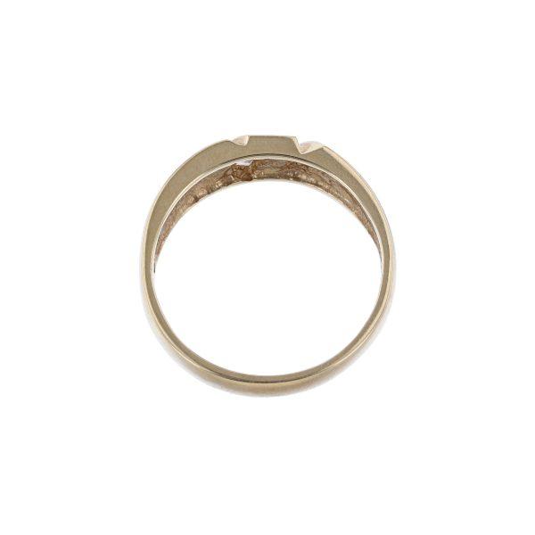 14K Yellow Gold Five Baguette Diamond Ring