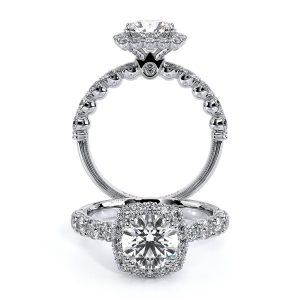 Verragio Renaissance Cushion Halo Diamond Ring