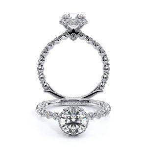 Verragio Renaissance Round Halo Diamond Engagement Ring