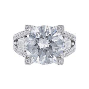 Nazarelle 14K White Gold 158 Diamond Engagement Ring